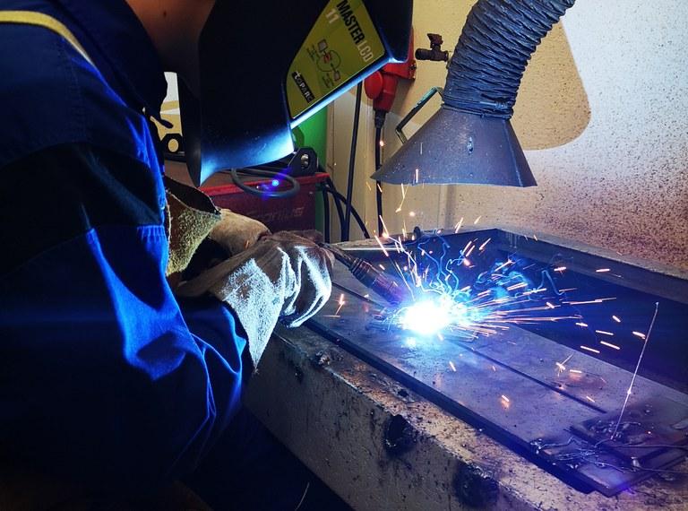 Einblick in die Abteilung Maschinenbau