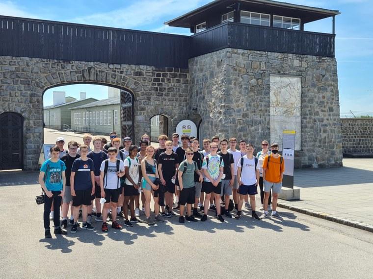 1BHET beim Besuch des Konzentrationslager Mauthausen