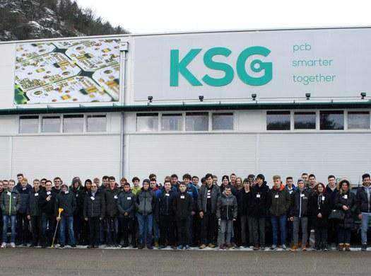 Exkursion der 3. Klassen Elektronik und Technische Informatik zur Firma KSG