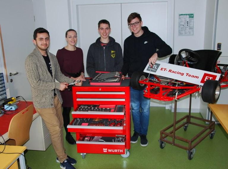 Fa. Würth unterstützt des Elektrotechnik Rennteam