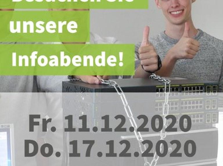 Informatik-Abteilung: neue  Online-Infoabende - 11. und 17. 12.!