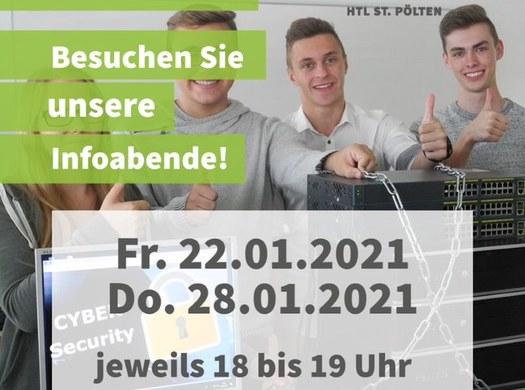 Informatik-Abteilung - Online-Infoabende: 22. und 28. Jänner 2021!