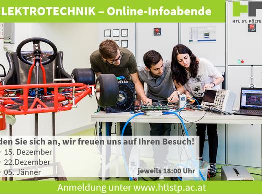 Online-Infoabende in der Abteilung Elektrotechnik
